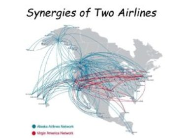Synergy RouteMap Alaska Airlines Virgin America Merger