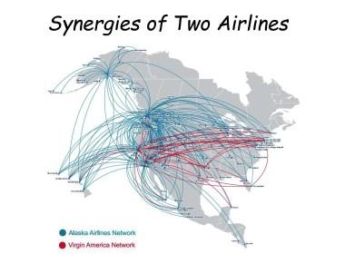 Synergy RouteMap Alaska Airlines Virgin America Merger