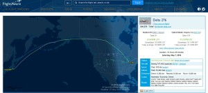 from flightaware tracking of delta air lines flight 276 from NRT to DTW