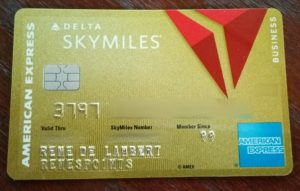 my new delta amex biz card