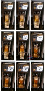 shots of the beer machine in NRT Narita Sky Club RenesPoints blog