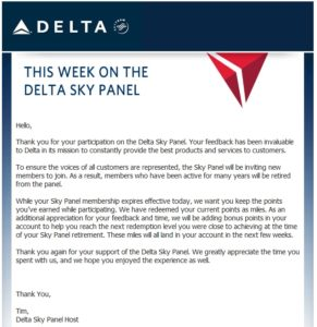 this week i got kicked out of skypanel delta focus group
