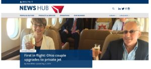 was this the ONLY or first couple to upgrade to private jet