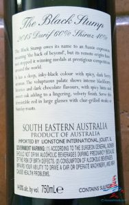 The Black Stump Durif Shiraz 2015 WSJwines AMEX SYNC offer RenesPoints blog (2)