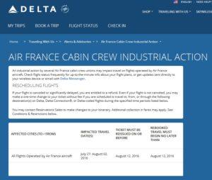 air france week long strike