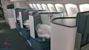 Delta Air Line 747 Delta One business class seat flight review NRT Japan to DTW Detroit RenesPoints blog (2)