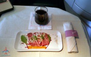 Delta Air Line 747 Delta One business class seat flight review NRT Japan to DTW Detroit RenesPoints blog (22)