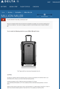Delta million miler gift choices from Delta - com RenesPoints blog choice (6)