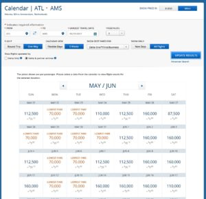 atl to ams biz delta level 1