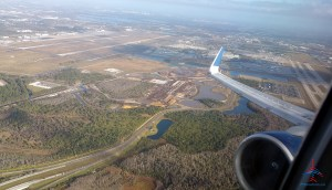 view from a Delta jet in 1st class at takeoff RenesPoints blog