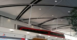 people mover tram in DTW Detroit airport renespoints blog