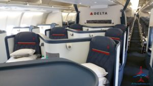 Airbus A330 Delta One first class section