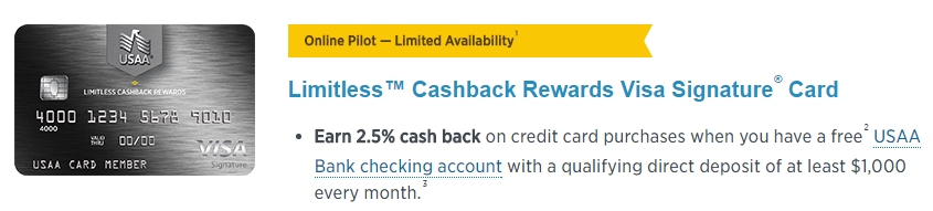 limitless cash back rewards from usaa