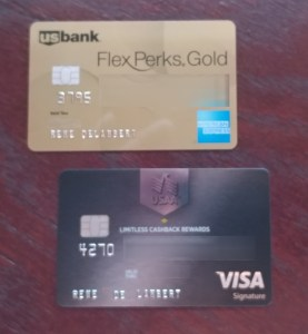 renes new cards FlexPerks AMEX and USAA cash back card
