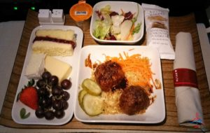 Korean Meatball with Rice Delta first class lunch review RenesPoints blog