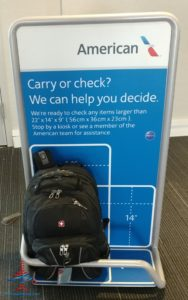 What is the United and American Airlines carryon bag check real size check tester like - we compare RenesPoints blog Review (1)