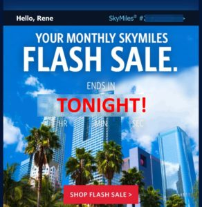 delta flash sale email