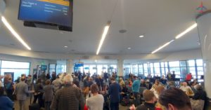 RenesPoints Delta LAX Boarding lane Area mess