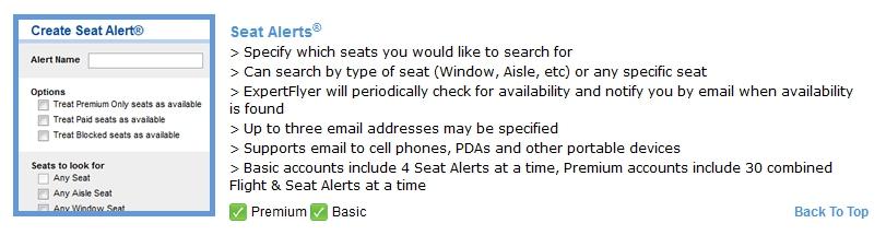 seat alert expert flyer