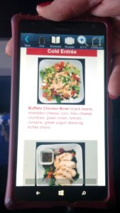 meal choices in delta SkyPro GST Guest Services Tool windows device