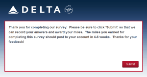 New Delta Air Lines SkyMiles survey for 250 SkyMiles - how would you vote (22)