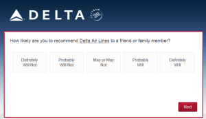 New Delta Air Lines SkyMiles survey for 250 SkyMiles - how would you vote (3)