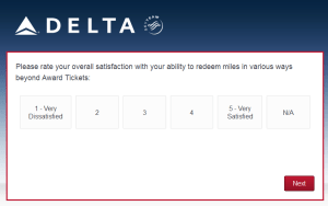 New Delta Air Lines SkyMiles survey for 250 SkyMiles - how would you vote (8)