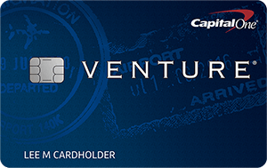 The Capital One Venture Rewards travel credit card.