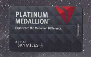 2019 Delta Platinum Medallion brag tag / baggage tag.