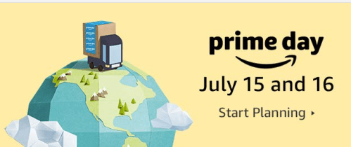 A banner advertises Amazon Prime Day