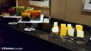 Evening snacks at the Sheraton Times Square Hotel in New York City. My SPG Business Amex (RIP :-( ) got me in here.