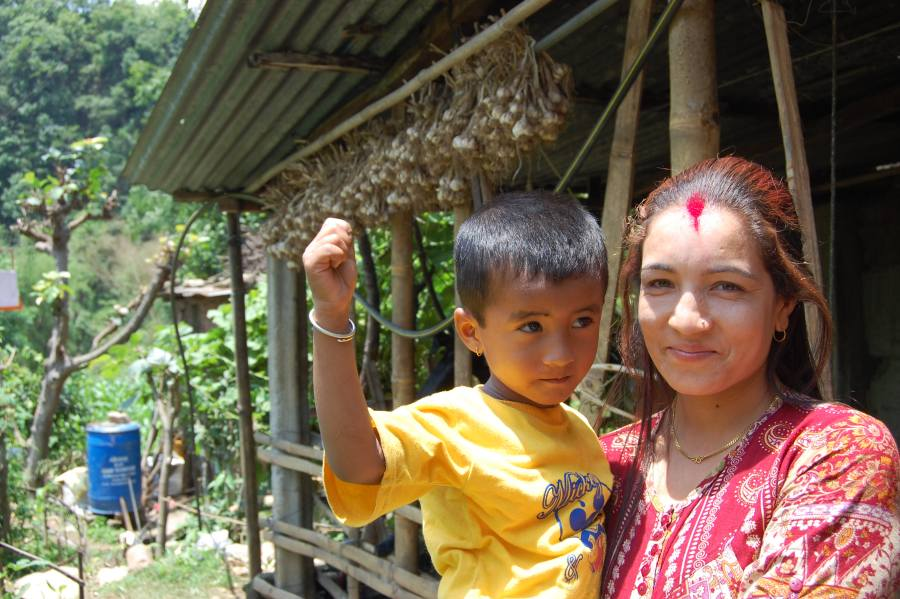 A Nepalese mother and child in Achham District.