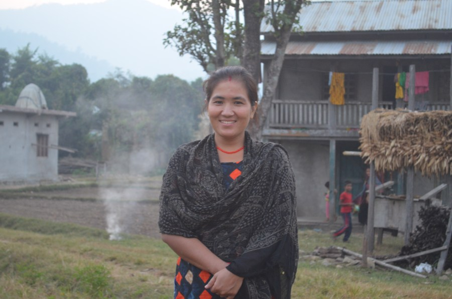 A Nepalese woman in her village in Northern Bardia.