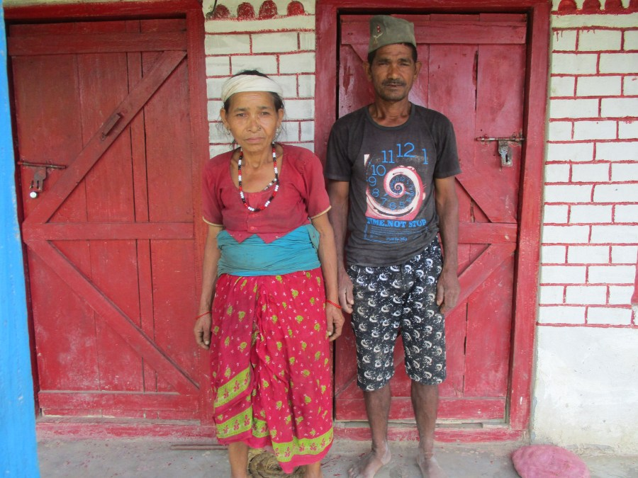 Rupkali with her husband.