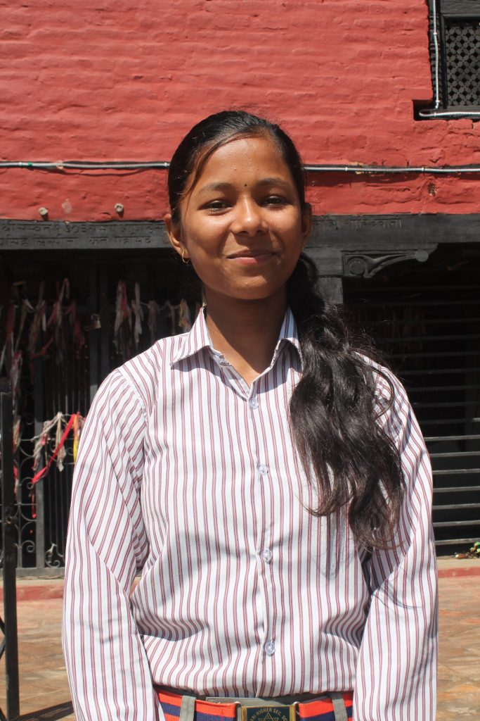 Urmila, 16, at school.