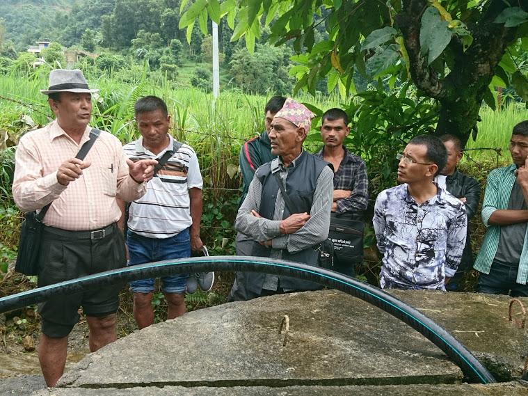 The workshop visits the Bhaitari Community.
