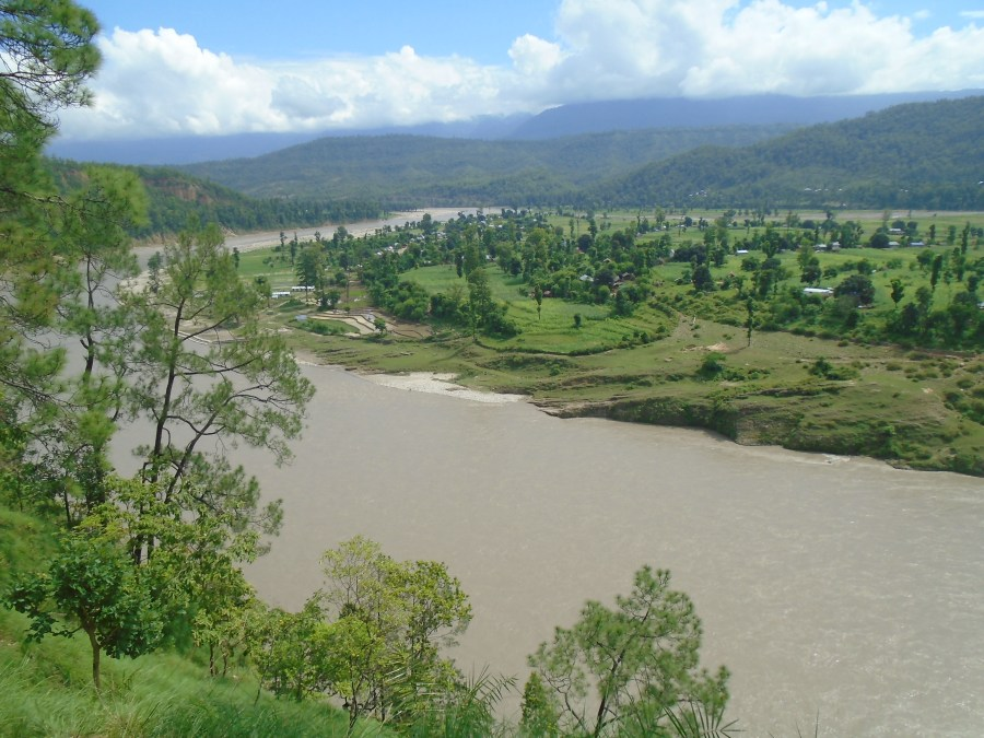 A view of Berichaal Chepang community, at the confluence of the Bheri and Sodh Khola rivers