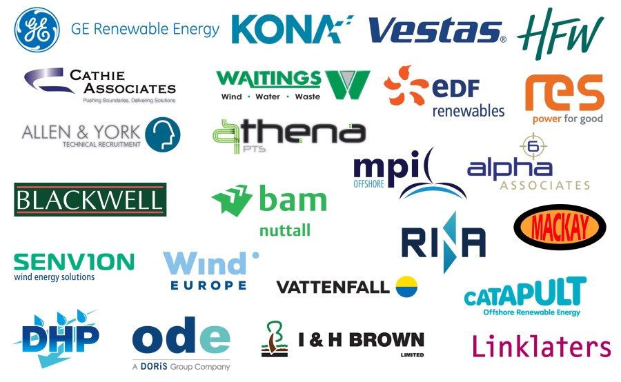 The logos of past sponsors of Earth Wind & Tyre