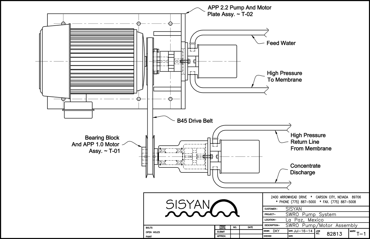 Sisyan T 1 Solar Photovoltaic Seawater Reverse Osmosis