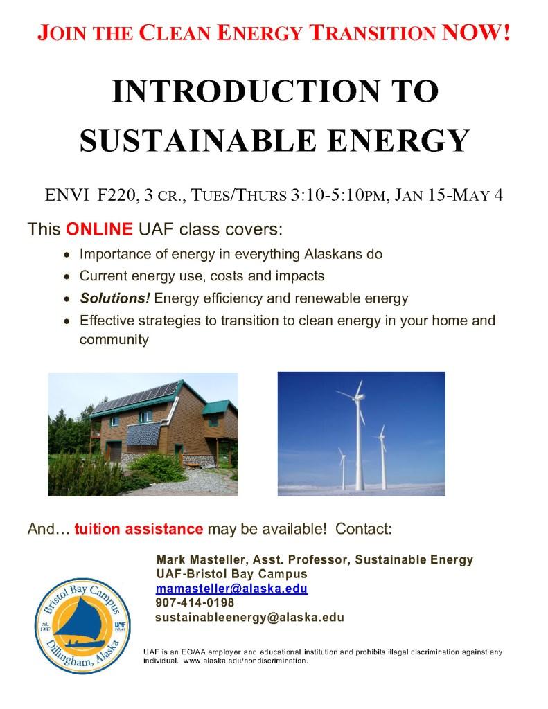 UAF Online Classes – Renewable Juneau