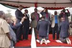Kiambu church leaders pray together
