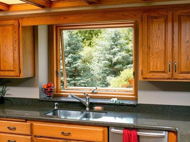 Renewal by Andersen awning window over kitchen sink