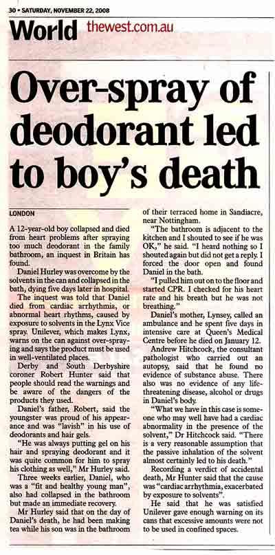Deodorant Death 2008