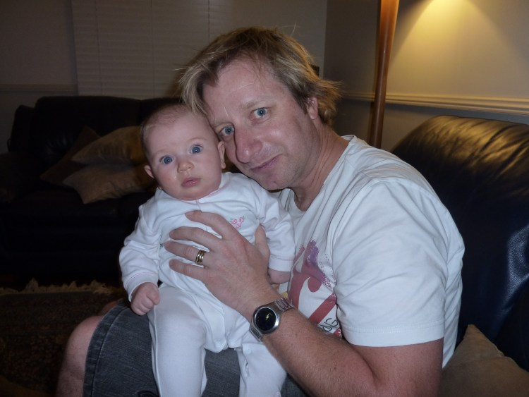Me at 35 years old with 3 month old Lili on my lap. Being fit over 40 no longers seems that likely