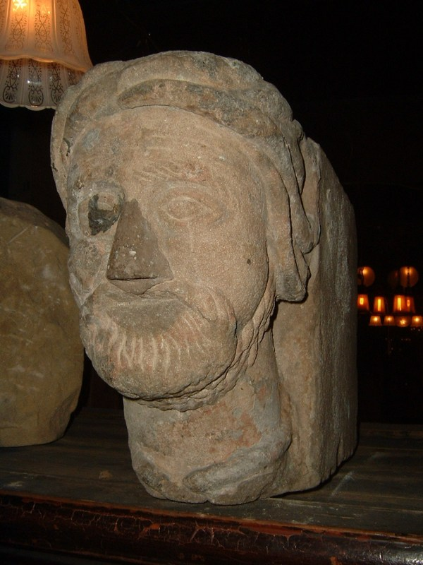 Carved English Stone Heads