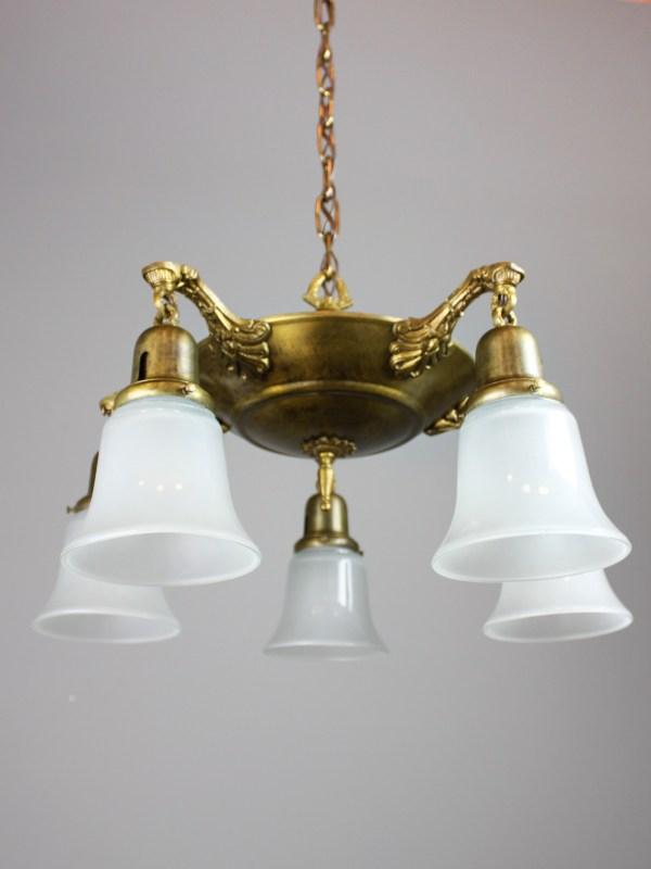Antique Pan Light Fixture 5-light
