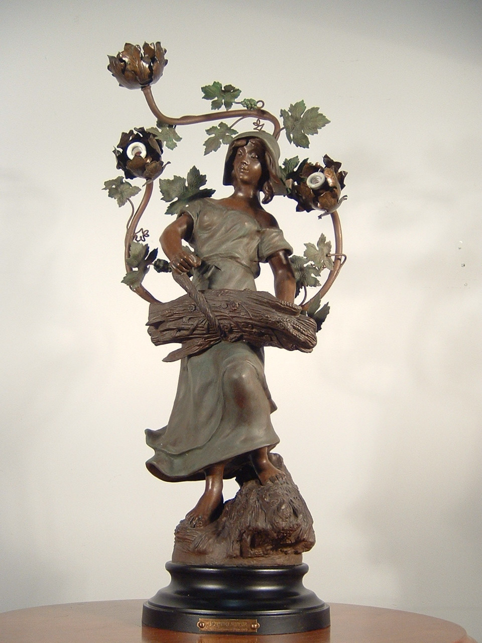 French Figural Lamp