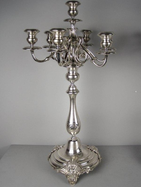 Silver-plated Candelabra Candlesticks