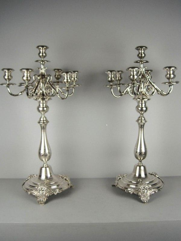 Silver-plated Candelabra Candlesticks Renew