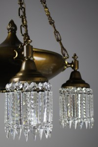 Colonial Revival 5 Light Crystal Chandelier |